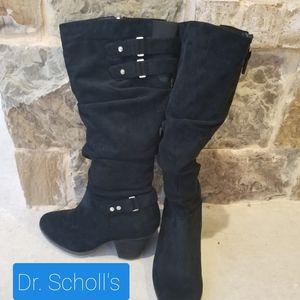Dr Scholls Memory Foam Black Boots~Size 9